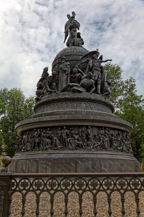Χιλιετία μνημείων της Ρωσίας, Veliky Novgorod, Ρωσία στοκ φωτογραφία με δικαίωμα ελεύθερης χρήσης