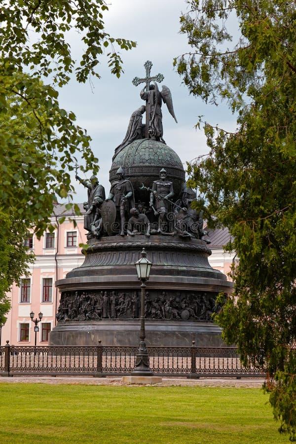 Χιλιετία μνημείων της Ρωσίας, Veliky Novgorod, Ρωσία στοκ φωτογραφίες