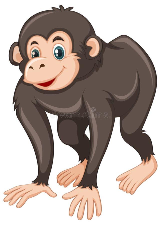 Χιμπατζής με το ευτυχές πρόσωπο διανυσματική απεικόνιση