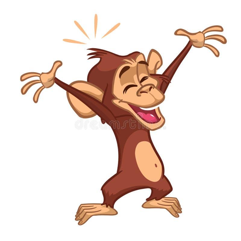 Χιμπατζής πιθήκων κινούμενων σχεδίων ελεύθερη απεικόνιση δικαιώματος