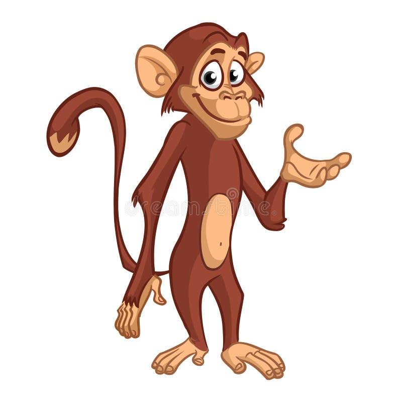 Χιμπατζής πιθήκων κινούμενων σχεδίων r απεικόνιση αποθεμάτων