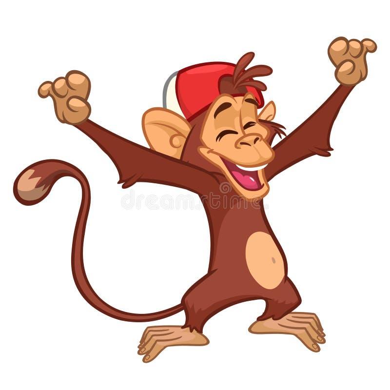Χιμπατζής πιθήκων κινούμενων σχεδίων r ελεύθερη απεικόνιση δικαιώματος