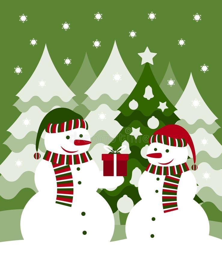 χιονάνθρωποι δώρων διανυσματική απεικόνιση