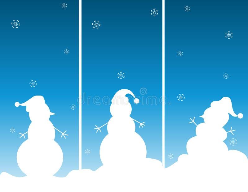 χιονάνθρωποι χιονανθρώπω&nu ελεύθερη απεικόνιση δικαιώματος