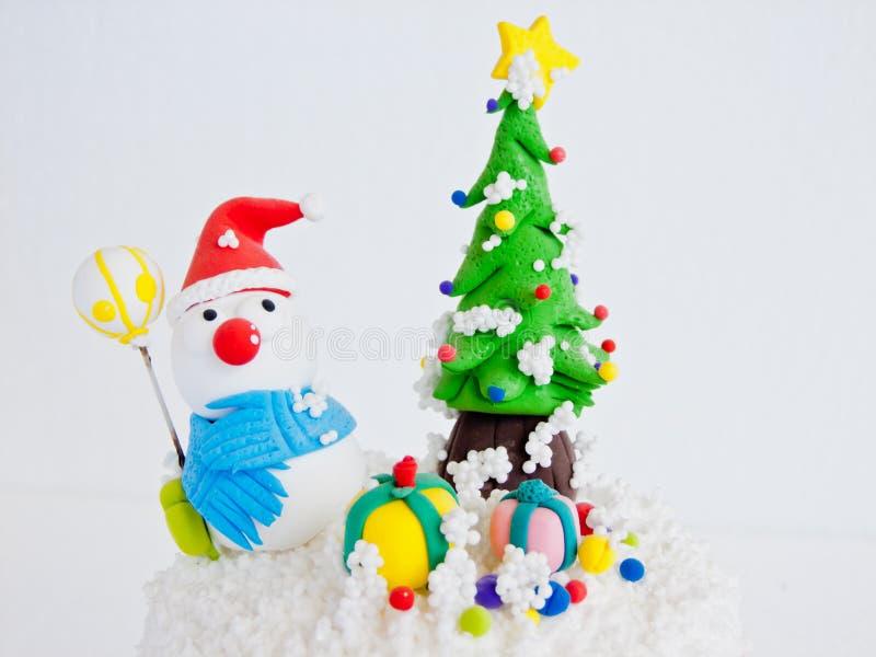 χιονάνθρωπος ημέρας των Χριστουγέννων στοκ εικόνες με δικαίωμα ελεύθερης χρήσης