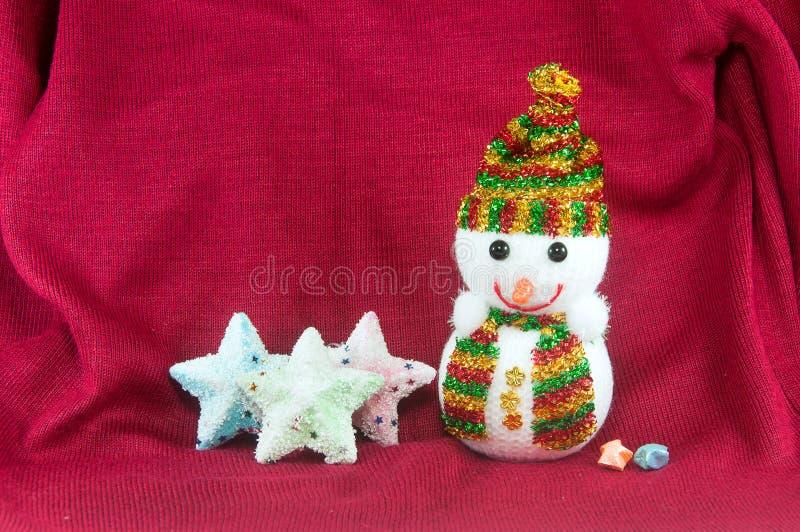 Χιονάνθρωπος και αστέρια στοκ εικόνες με δικαίωμα ελεύθερης χρήσης