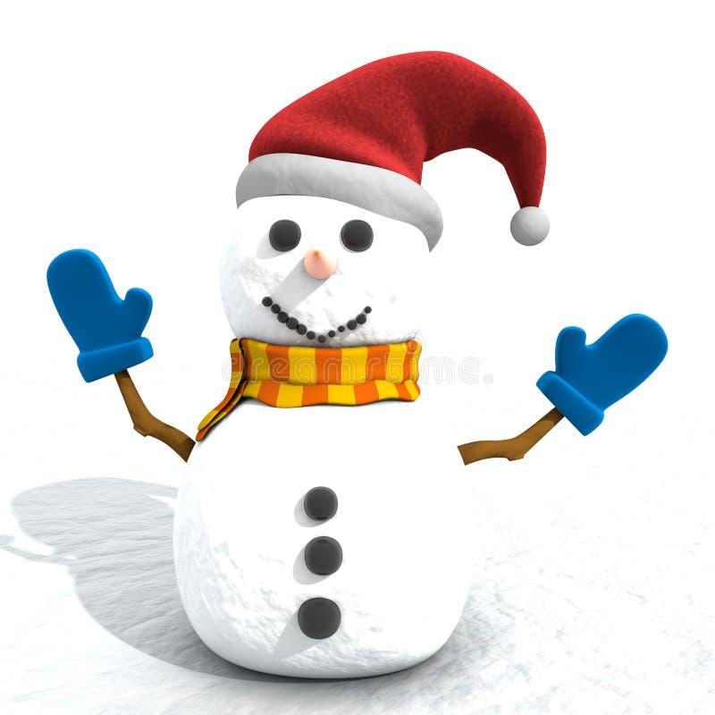 Χιονάνθρωπος κινούμενων σχεδίων ελεύθερη απεικόνιση δικαιώματος