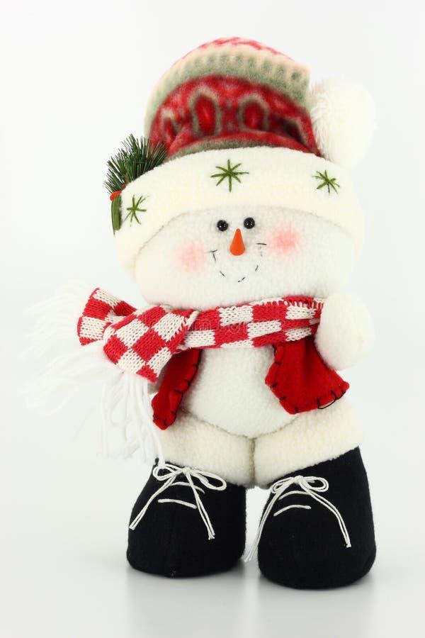 χιονάνθρωπος κουκλών Χριστουγέννων στοκ εικόνα