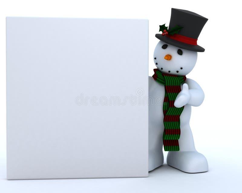 χιονάνθρωπος μαντίλι καπέ&lamb διανυσματική απεικόνιση