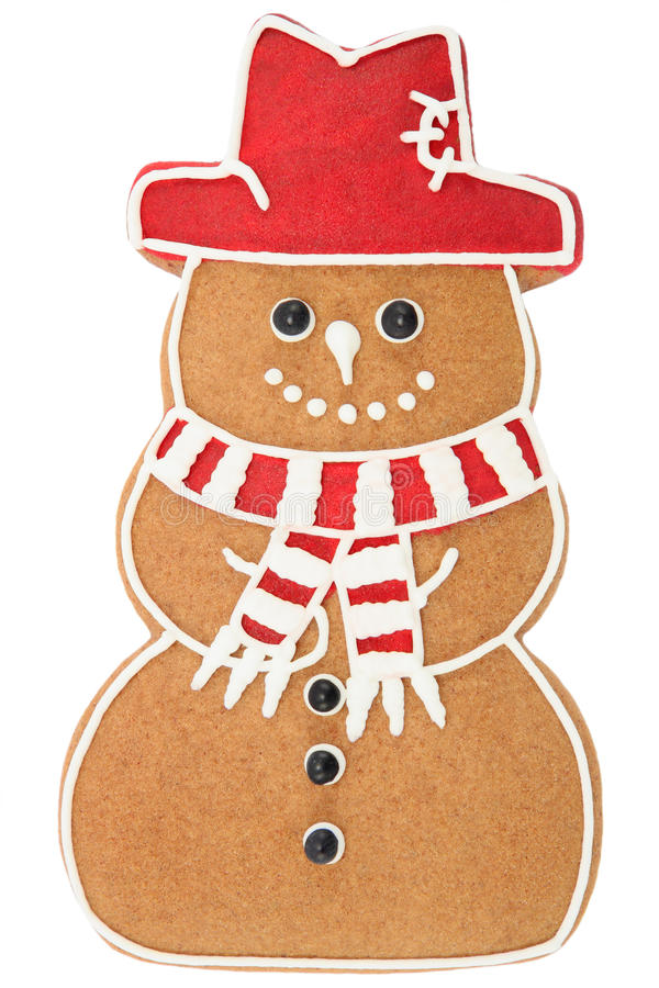 χιονάνθρωπος μελοψωμάτω& στοκ φωτογραφία
