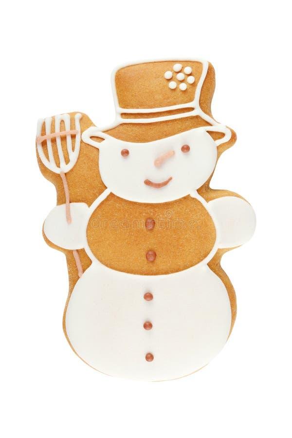 Χιονάνθρωπος μελοψωμάτων στοκ εικόνες