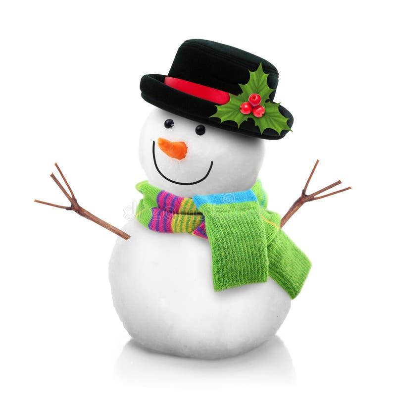 Χιονάνθρωπος που απομονώνεται στοκ φωτογραφία με δικαίωμα ελεύθερης χρήσης