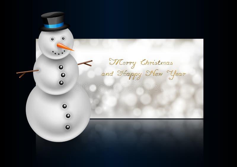 Download Χιονάνθρωπος στη ευχετήρια κάρτα Χριστουγέννων Περίληψη Bokeh Backgroun Διανυσματική απεικόνιση - εικονογραφία από εύθυμος, ευτυχής: 62724596