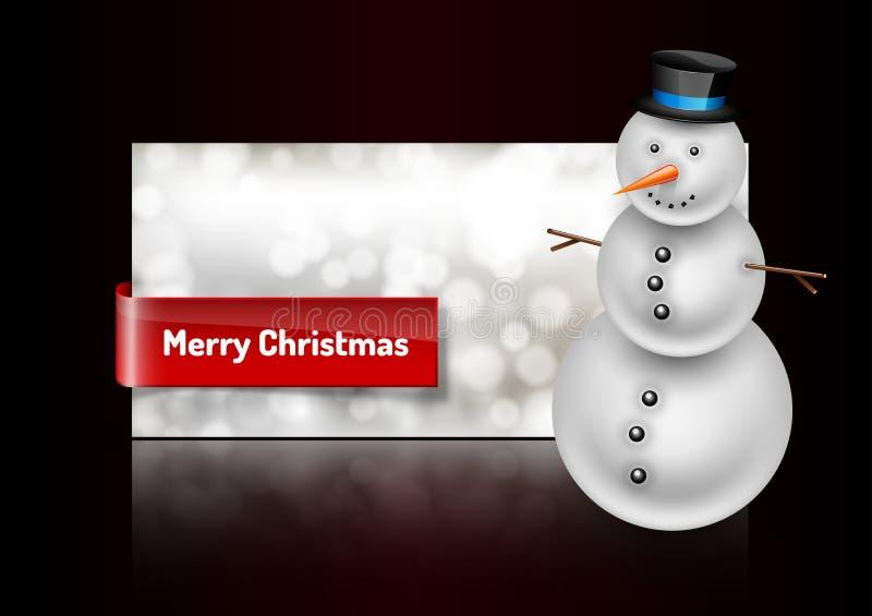 Download Χιονάνθρωπος στη ευχετήρια κάρτα Χριστουγέννων Περίληψη Bokeh Backgroun Διανυσματική απεικόνιση - εικονογραφία από εύθυμος, σημάδι: 62724665