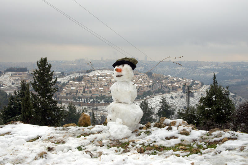Χιονάνθρωπος της Ιερουσαλήμ στοκ εικόνα με δικαίωμα ελεύθερης χρήσης