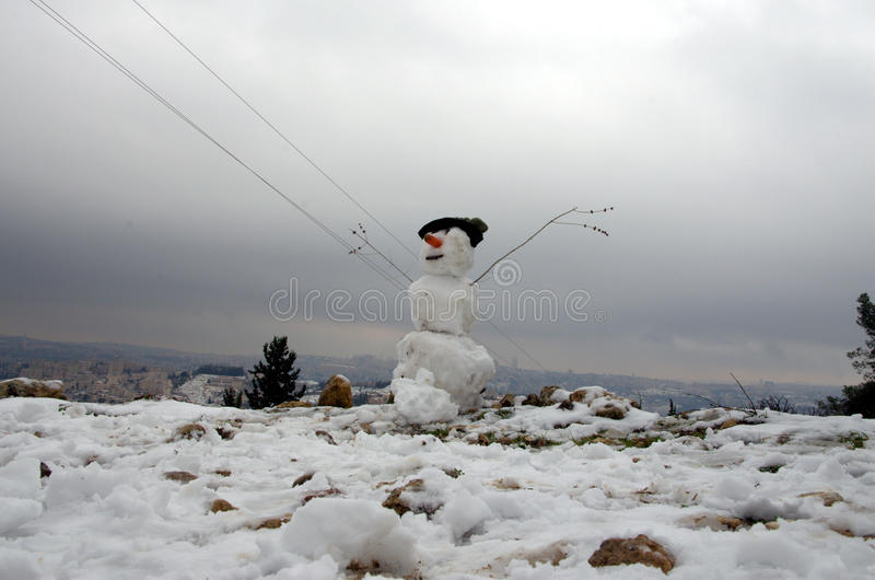 Χιονάνθρωπος της Ιερουσαλήμ στοκ φωτογραφία
