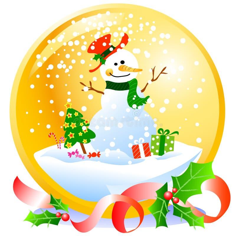 χιονάνθρωπος χιονιών Χρισ& ελεύθερη απεικόνιση δικαιώματος