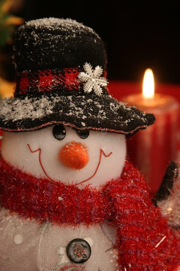 χιονάνθρωπος Χριστουγέννων στοκ φωτογραφίες με δικαίωμα ελεύθερης χρήσης