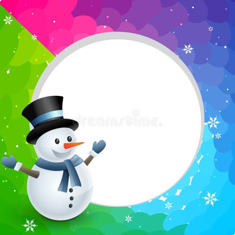 Χιονάνθρωπος Χριστουγέννων ελεύθερη απεικόνιση δικαιώματος