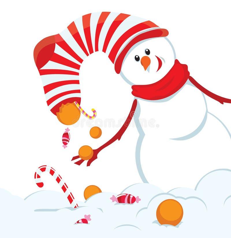 χιονάνθρωπος Χριστουγέν&n απεικόνιση αποθεμάτων