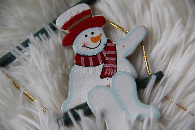 Χιονάνθρωπος Smiley στοκ φωτογραφία με δικαίωμα ελεύθερης χρήσης