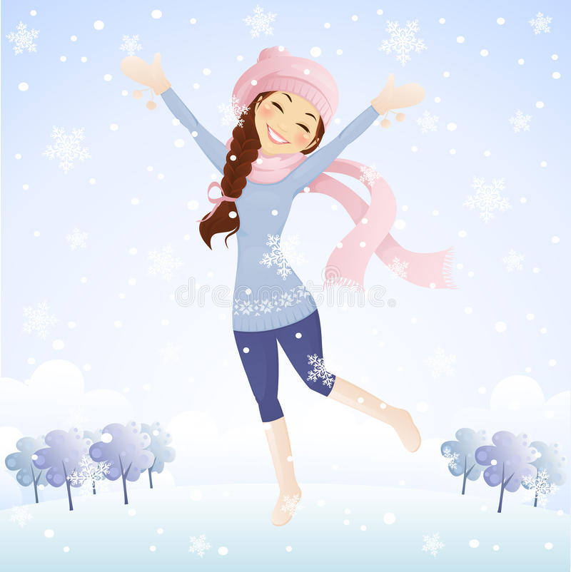 Χιονίζει ελεύθερη απεικόνιση δικαιώματος