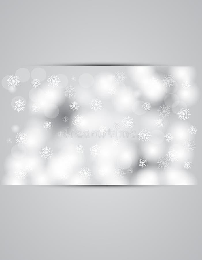 Χιονίζοντας έμβλημα ουρανού Χριστουγέννων και Πρωτοχρονιάς διανυσματική απεικόνιση