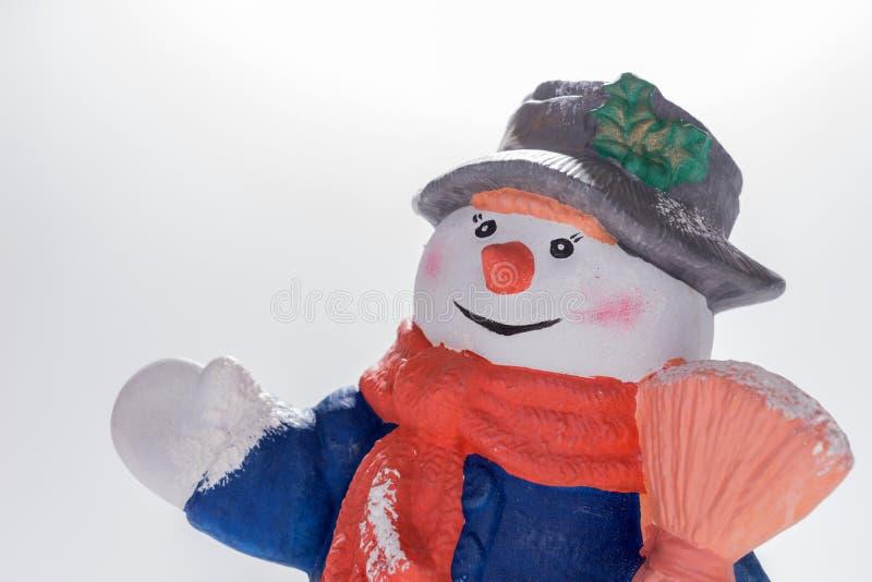 Χιονανθρώπων πρότυπο που απομονώνεται κεραμικό στοκ φωτογραφία με δικαίωμα ελεύθερης χρήσης