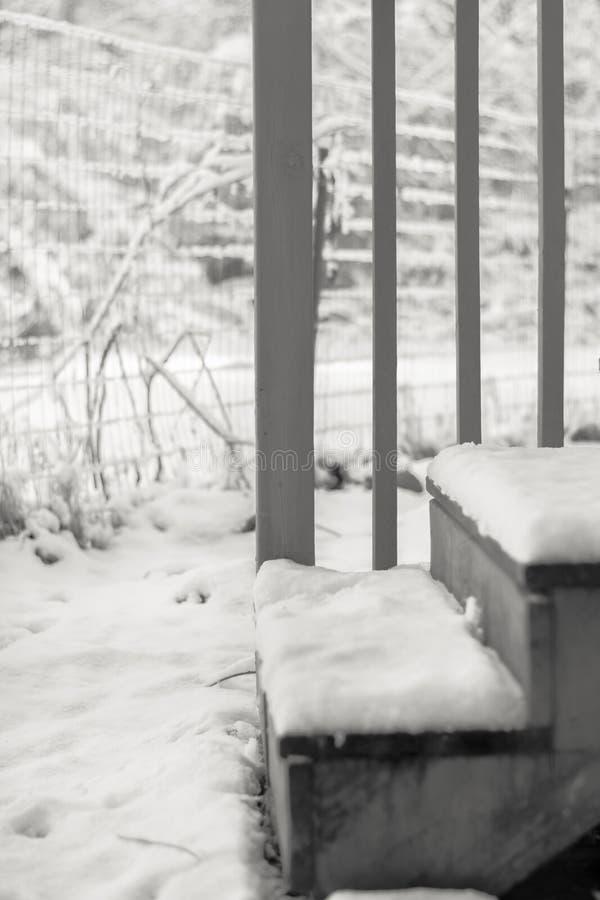 Χιονισμένα βήματα στοκ εικόνες