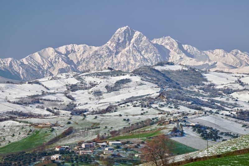 Βουνά Sasso Gran στοκ φωτογραφία με δικαίωμα ελεύθερης χρήσης