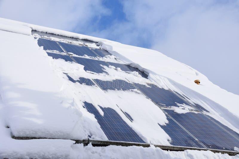 Χιονισμένο ηλιακό σύστημα στοκ φωτογραφία με δικαίωμα ελεύθερης χρήσης