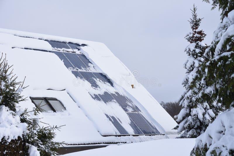 Χιονισμένο ηλιακό σύστημα στοκ εικόνα με δικαίωμα ελεύθερης χρήσης