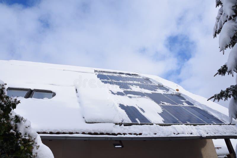 Χιονισμένο ηλιακό σύστημα στοκ φωτογραφίες