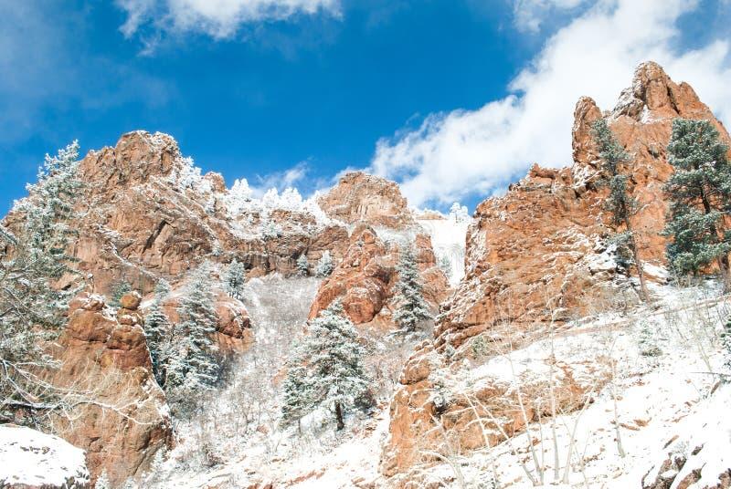 Χιονισμένο φαράγγι του Κολοράντο στοκ εικόνες