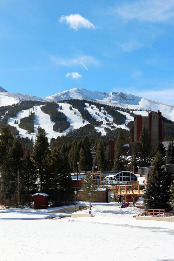 Χιονοδρομικό κέντρο Breckenridge στοκ φωτογραφίες