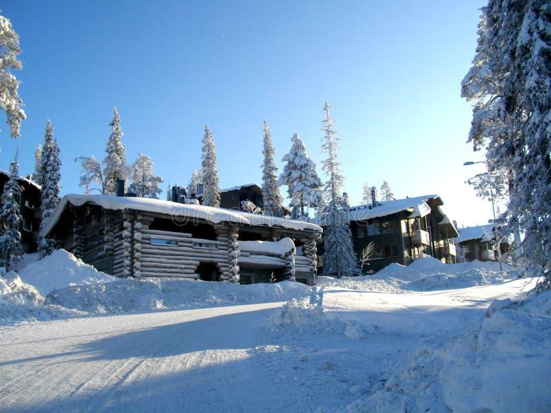 Χιονοδρομικό κέντρο Ruka Φινλανδία στοκ φωτογραφία με δικαίωμα ελεύθερης χρήσης