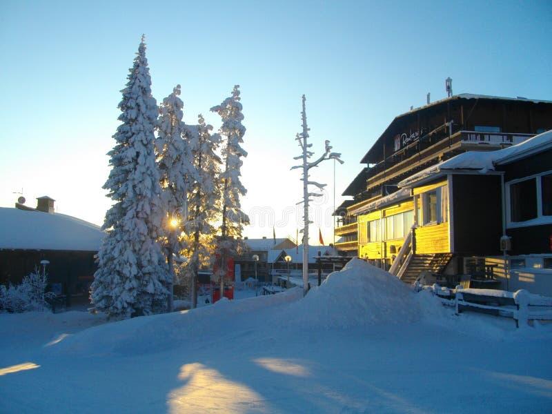 Χιονοδρομικό κέντρο Ruka Φινλανδία στοκ φωτογραφίες