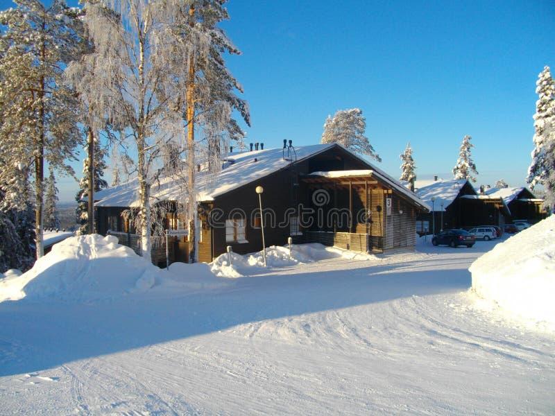 Χιονοδρομικό κέντρο Ruka Φινλανδία στοκ φωτογραφίες με δικαίωμα ελεύθερης χρήσης