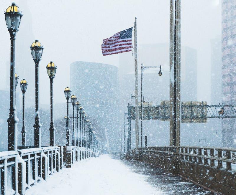 Χιονοθύελλα ούτε ` Πάσχα στις 13 Μαρτίου 2018 στο Χάρτφορντ Κοννέκτικατ Νέα Αγγλία στοκ εικόνα