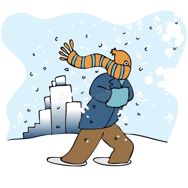 χιονοθύελλα ελεύθερη απεικόνιση δικαιώματος
