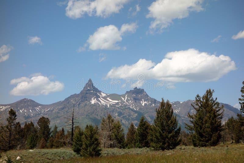 Χιονοσκεπή βουνά το καλοκαίρι στοκ εικόνες