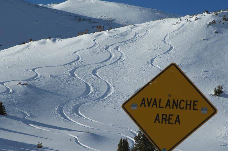 χιονοστιβάδα περιοχής στοκ φωτογραφία με δικαίωμα ελεύθερης χρήσης