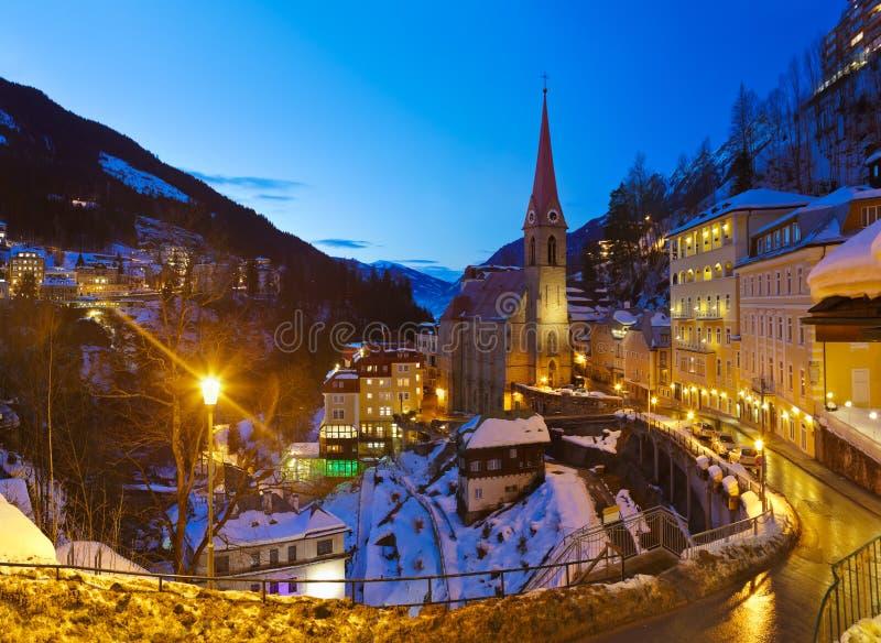 Χιονοδρομικό κέντρο κακό Gastein Αυστρία βουνών στοκ εικόνα με δικαίωμα ελεύθερης χρήσης