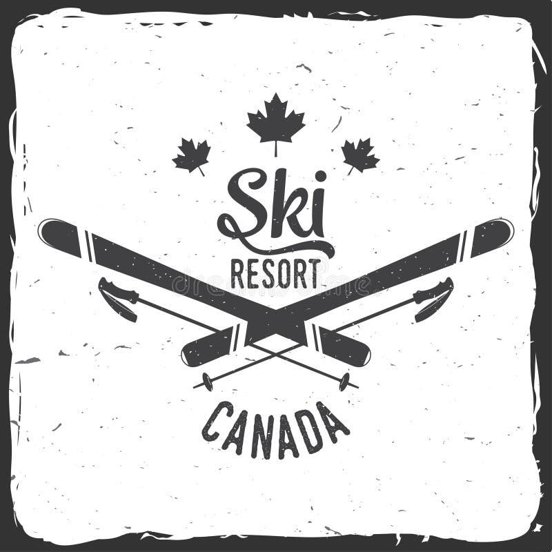 Χιονοδρομικό κέντρο, Καναδάς διανυσματική απεικόνιση