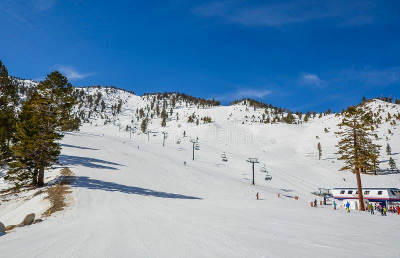 Χιονοδρομικό κέντρο στη λίμνη Tahoe στοκ φωτογραφία με δικαίωμα ελεύθερης χρήσης