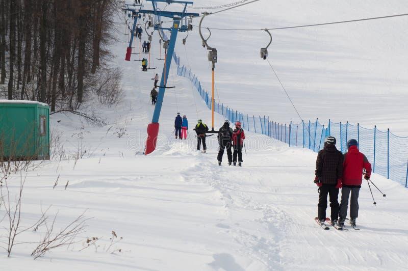Χιονοδρομικό κέντρο Kushtau στοκ φωτογραφίες