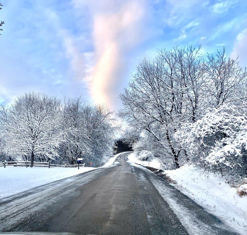 Χιονώδες χειμερινό πρωί στοκ φωτογραφίες με δικαίωμα ελεύθερης χρήσης