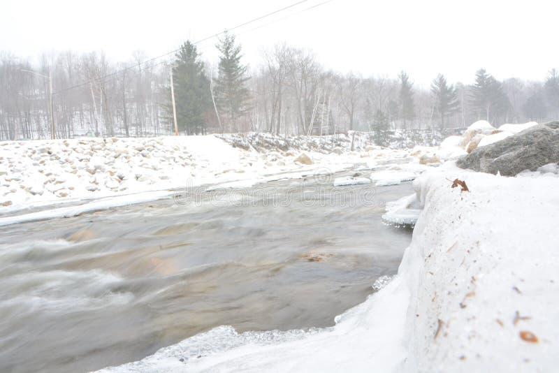 Χιονώδης ποταμός στοκ φωτογραφία με δικαίωμα ελεύθερης χρήσης