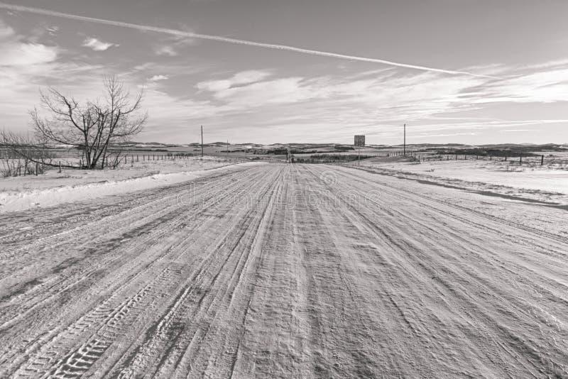 Χιονώδεις πίσω δρόμοι στοκ εικόνες