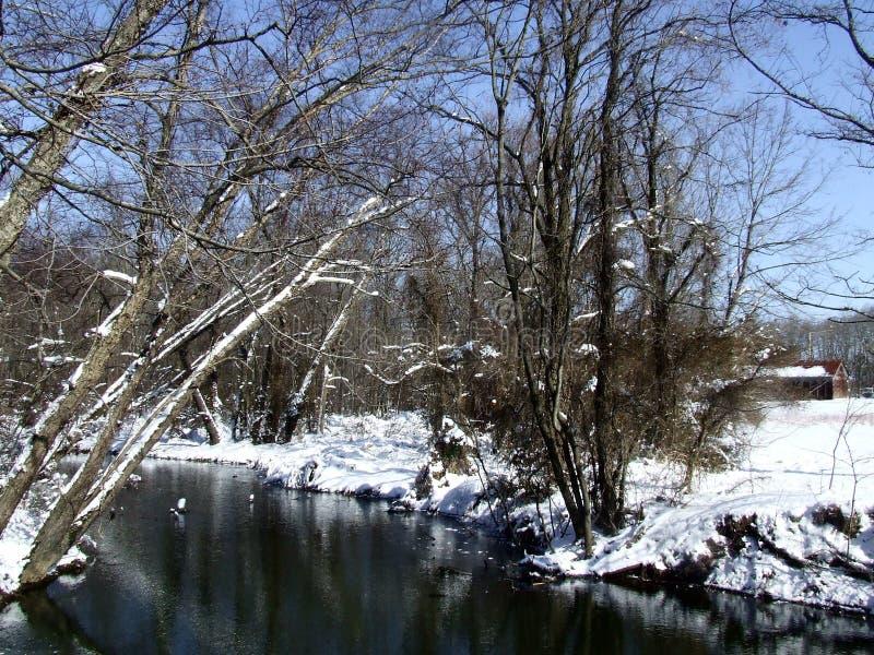 Χιονώδες ρεύμα στοκ φωτογραφίες